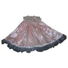 """Vintage 1950's Luscious Factory Mint Pink Taffeta Slip for 20""""-22"""" Toddler Doll!"""