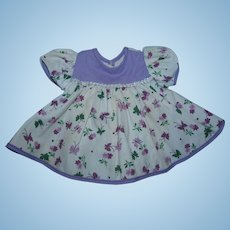 """1950's Factory Butterfly Print DRESS for 15"""" Tiny Tears!"""
