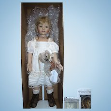 "RARE 24"" Berdine Creedy SAMMIE Artist Porcelain Doll #4 of 20 Mint in Box!"