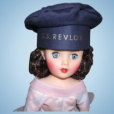 RARE S.S. Revlon Navy HAT Mint and Never Played With!