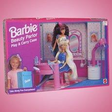 1995 Mattel Barbie Beauty Parlor Play & Carry Case NRFB!