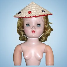 Vintage Factory MINT Straw COOLIE Beach HAT for CISSY and other Fashion Dolls!
