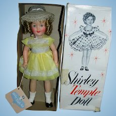 "1950s Ideal 12"" Shirley Temple Doll with 2 Tagged Outfits & Pin MIB!"