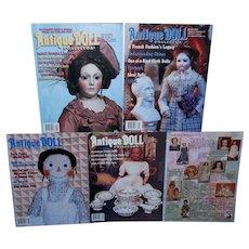Lot of 5 Antique Doll Collectors