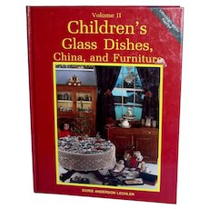 Childrens Glass Dishes, China and Furniture Volumn II Book
