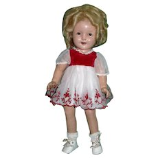"""1930s Ideal 19"""" Composition Shirley Temple Doll!"""