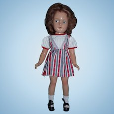 """RARE 14"""" Composition Doll with Painted Side Glancing Eyes"""