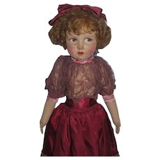 "RARE 1930's Raynal 19"" Lady Doll in Original Outfit"
