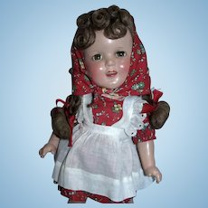 """Stunning and Rare 1930's Composition Ideal 13"""" Sally Pigtails Near MINT!"""