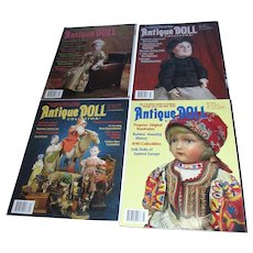Lot of 4 Antique Doll Collector Magazines!