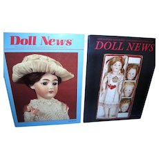 Lot of 2 UFDC Doll News Magazines with paper doll inserts!