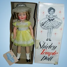"""Stunning 1950's Ideal 12"""" Shirley Temple Doll with 2 Tagged Outfits & Pin MIB!"""