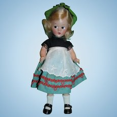 """RARE 1930's Madame Alexander 9"""" Wendy-Ann Tagged Swiss Composition Doll Mint and Never Played With!"""