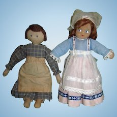 """1930's 14"""" Mollye Cloth Doll and Other Cloth Doll!"""