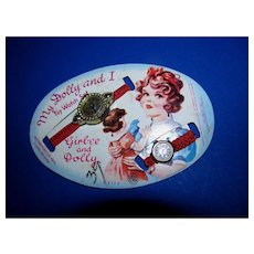 Vintage 1950s Dolly and I Toy Watch Set Girl-ee and Dolly Mint On Card!