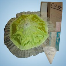 RARE 1954 Mary Hoyer Gigi Lime Green Parasol with Provenance Pristine Mint Mint in Box!