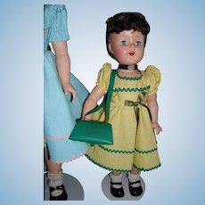 "Vintage 1950's Roberta Co. 16"" LuAnn Simms Walker Doll Crisp and Pristine Mint!"