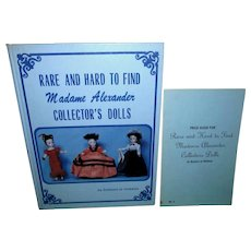 Rare and Hard to Find Madame Alexander Collector's Dolls Book with Price Guide!