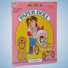 1986 Western Publishing Punky Brewster Paper Doll Near Mint and Uncut!