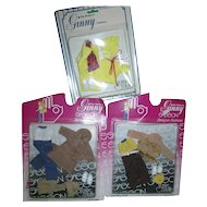 Lot of 3 Vogue Ginny Outfits Never Removed From the Packages!