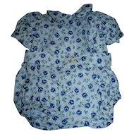 RARE 1948-1950 vintage Vogue Blue Floral Print Drop-Seat Romper/Playsuit with INK SPOT TAG!