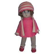 """Rare 1920's Messina 14"""" (Lenci Type) Doll All Original and Excellent Condition!"""