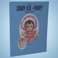 Vintage 1997 Effanbee's Candy Kid & Honey Paper Dolls by John Axe Uncut!