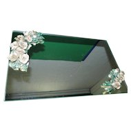 Stunning Vanity Mirror with Applied Flowers!