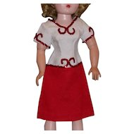 Stunning 1950's Red and White Dress for Cissy!