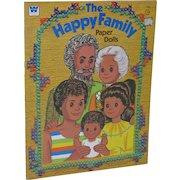 1977 Whitman Mattel The Happy Family Paper Doll Book Uncut!