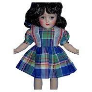 Vintage 1950's Factory Plaid Dress & Matching Panty for P91 Toni MINT!