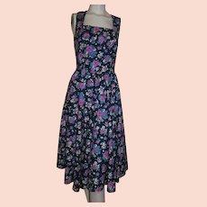 94e07478f6 Vintage 1980 s Petite LANZ Cabbage Rose Floral Sundress Size 8 Vibrant  Colors!