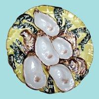 Antique Turkey Oyster Plate ~ Haviland & Company ~ Rare Yellow