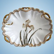 Rare Antique Oval Bowl ~ Haviland Double Gold ~ Feu de Four