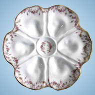 Antique Oyster Plate ~ Dainty Pinks!