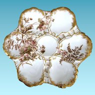 Antique Oyster Plate ~ Haviland & Co ~ Classic!