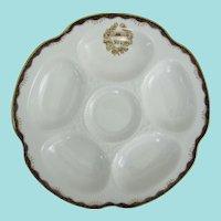 Antique Oyster Plate ~ Wedgwood ~ King Edward Hotel Toronto Canada