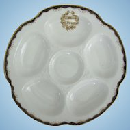 Antique Oyster Plate ~ Wedgwood ~ King Edward Hotel Toronto Canada