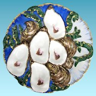 Antique Oyster Plate ~ Haviland Turkey  ~ Embellished!