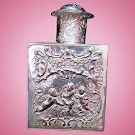 Antique Silver Tea Caddy ~ Mint