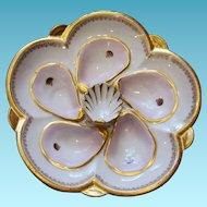 Exquisite Antique Oyster Plate ** Wilhelm & Graef ** Rare!