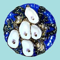 Antique Turkey Oyster Plate!  Exceptional!