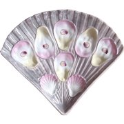 Rare! Fan shaped Antique Oyster Plate!