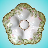 Antique Oyster Plate!  Think Spring!