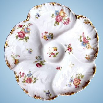 Antique H Co Haviland Limoges Porcelain Oyster Plate W Scallop  sc 1 st  Best Plate 2018 & Limoges Oyster Plate Value - Best Plate 2018