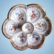 Antique Oyster Plate ~ Stunning!