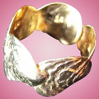 Vintage ~ Custom OYSTER 14 Karat Gold Ring ~ Unusual