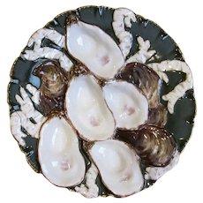 Antique Oyster Plate ~ Haviland Turkey ~ OD RARE!