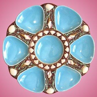 Rare! Antique Oyster Plate ~ Minton ~ Majolica