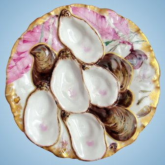 Antique Oyster Plate ~ Octopus! ~ Stunning!